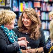 Adrienne Vaughan talking books in Waterstones