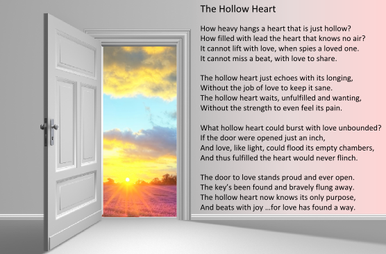 The Hollow Heart - poem small