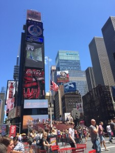 Times Square- the energy is palpable!